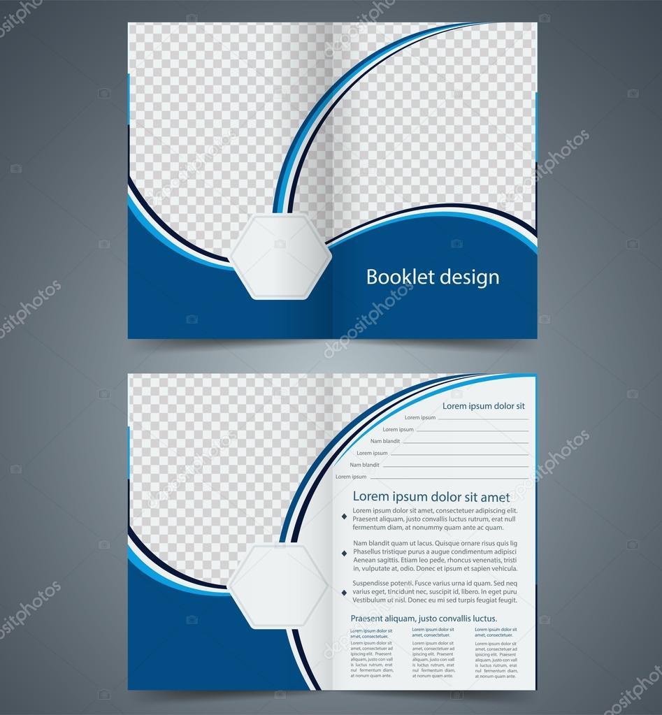 azul diseño de plantillas bifold folleto, folleto de la empresa ...