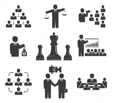 Business people. Office icons, conference, workforce, business m