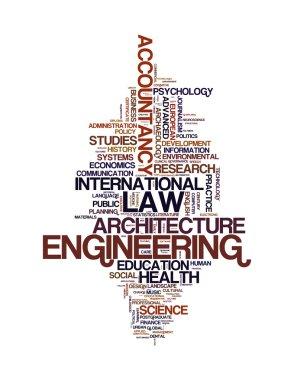Graduate and post graduate info text graphics and arrangement concept