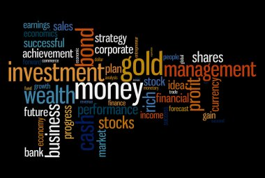 Wealth management portfolio info text graphics and arrangement concept