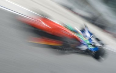Motion blur of sports car.