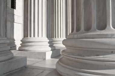 Columns At The US Supreme Court Building