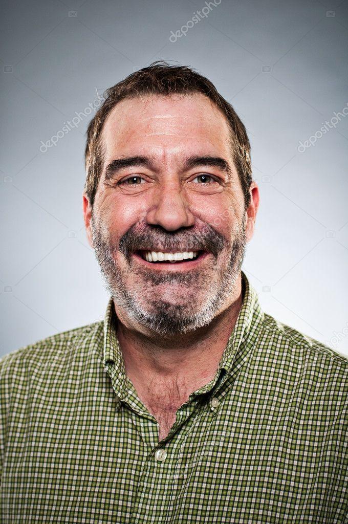 Mature Caucasian Man Smiling Portrait