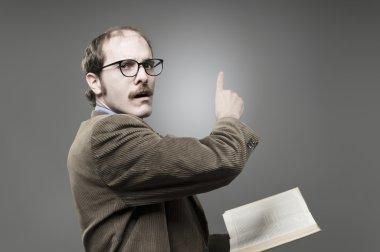 Young professor teaching
