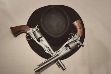 Hat and guns