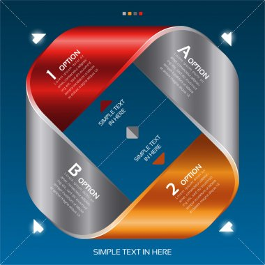 Mobius strip of paper. Vector option infographic.