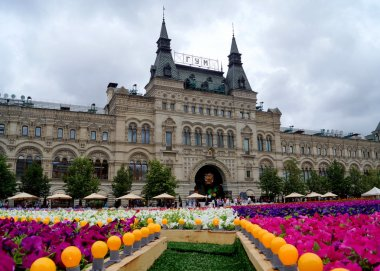 MOSCOW - JULY 21: Flower Festival in Red Square in honor of the