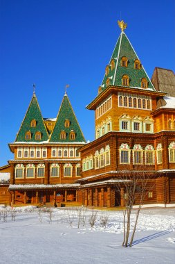 The wooden palace of Tsar Alexei Mikhailovich in Kolomenskoye pa