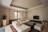 Photo Travertine house: Modern living room
