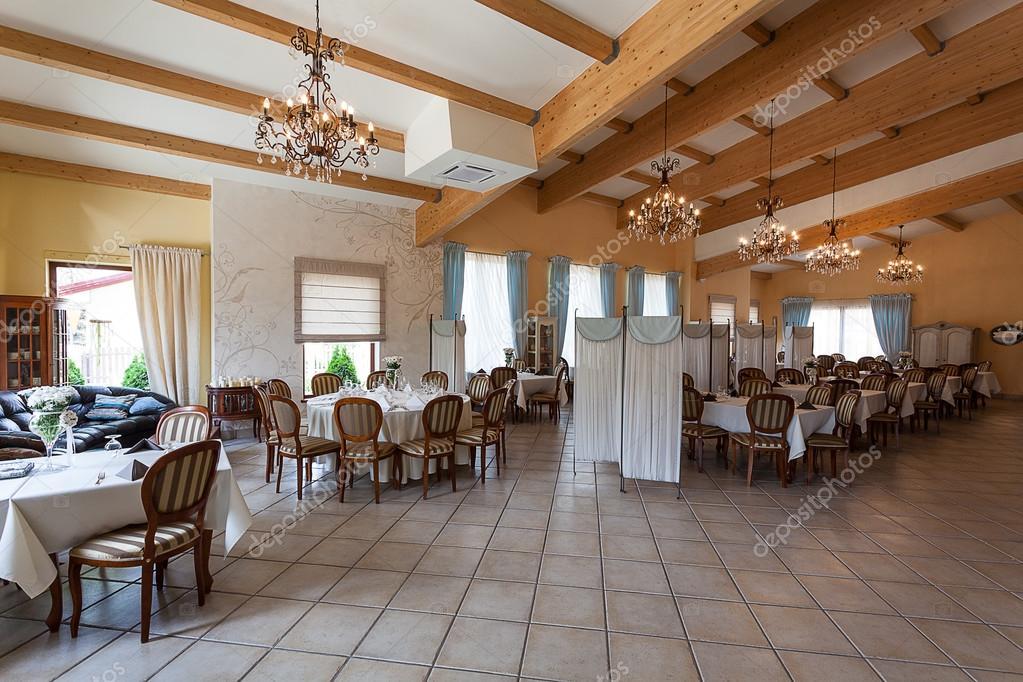 Mediterranean interior restaurant u stock photo photographee