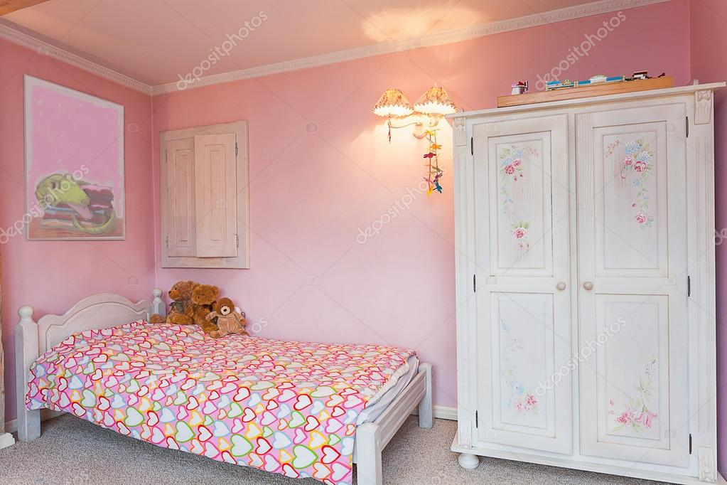 Chambre de manoir Vintage - Rose — Photographie photographee ...