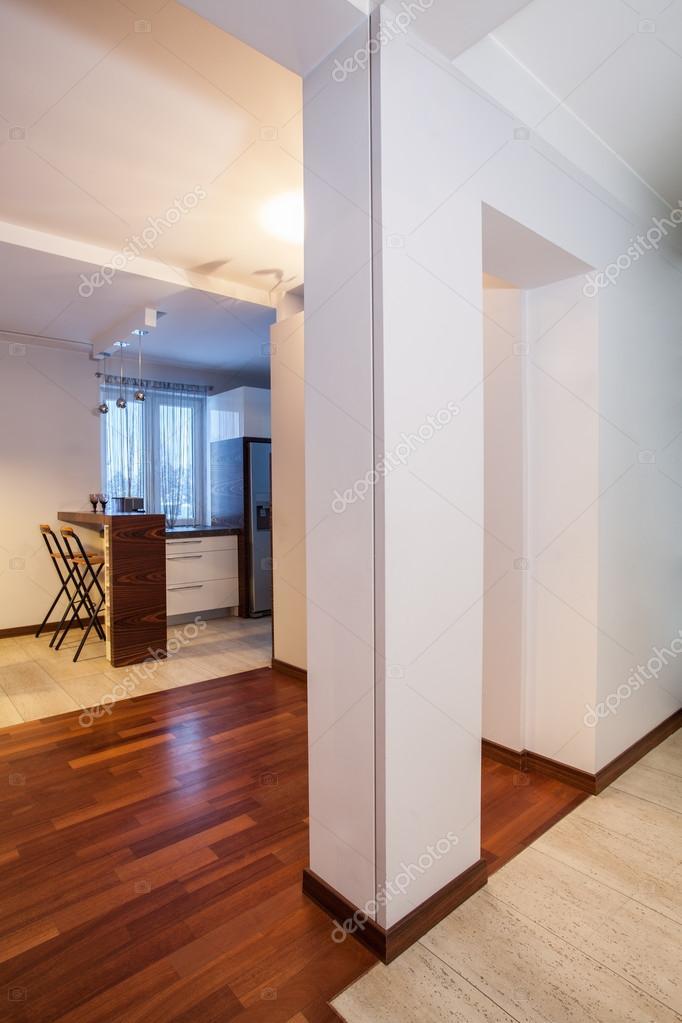 Country Home White Pillar In Corridor Modern House Photo By Photographee Eu