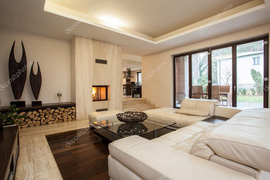 Travertine House Living Room Stock Photo 169 Photographee