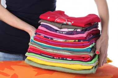 Laundry on ironing board