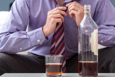 Businessman afterwork drinking