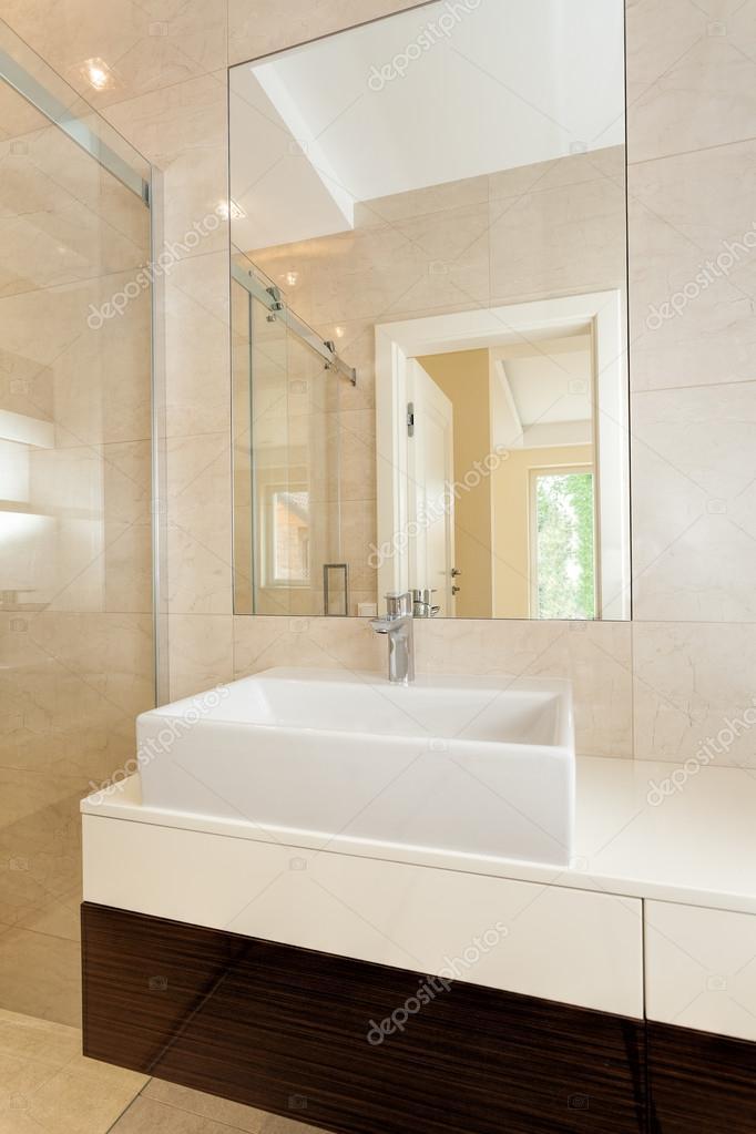 Rectangular Vessel Sink In Modern Bathroom Stock Photo By C Photographee Eu 37471713