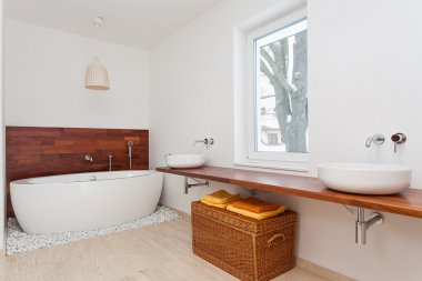 Bright stylish bathroom