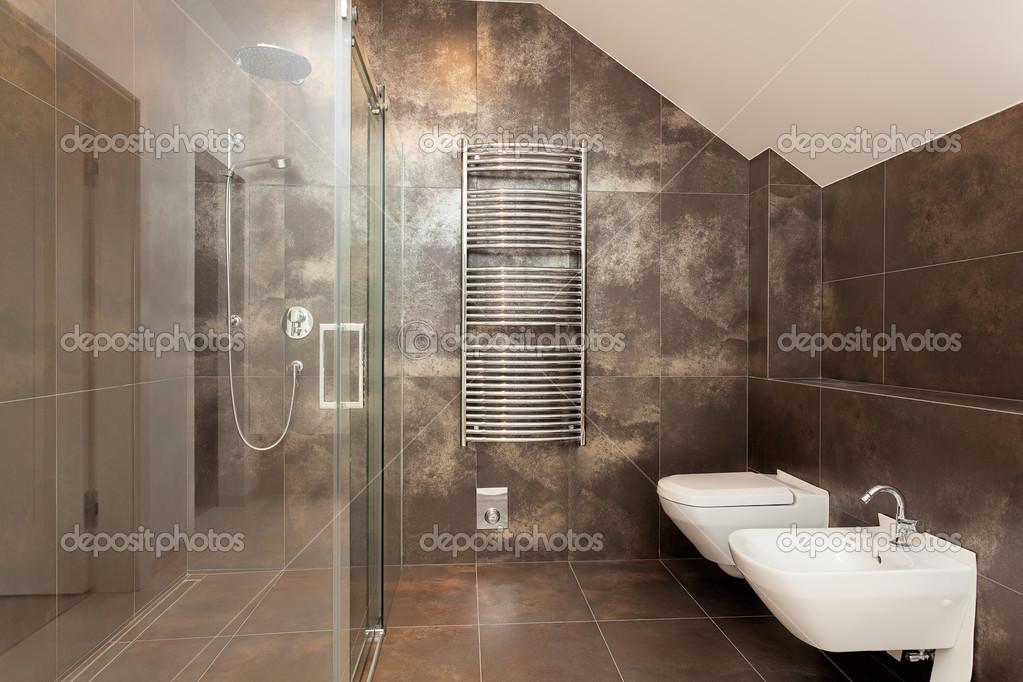 Braune Badezimmer Interieur ? Stockfoto © Photographee.eu #40644065 Braunes Badezimmer