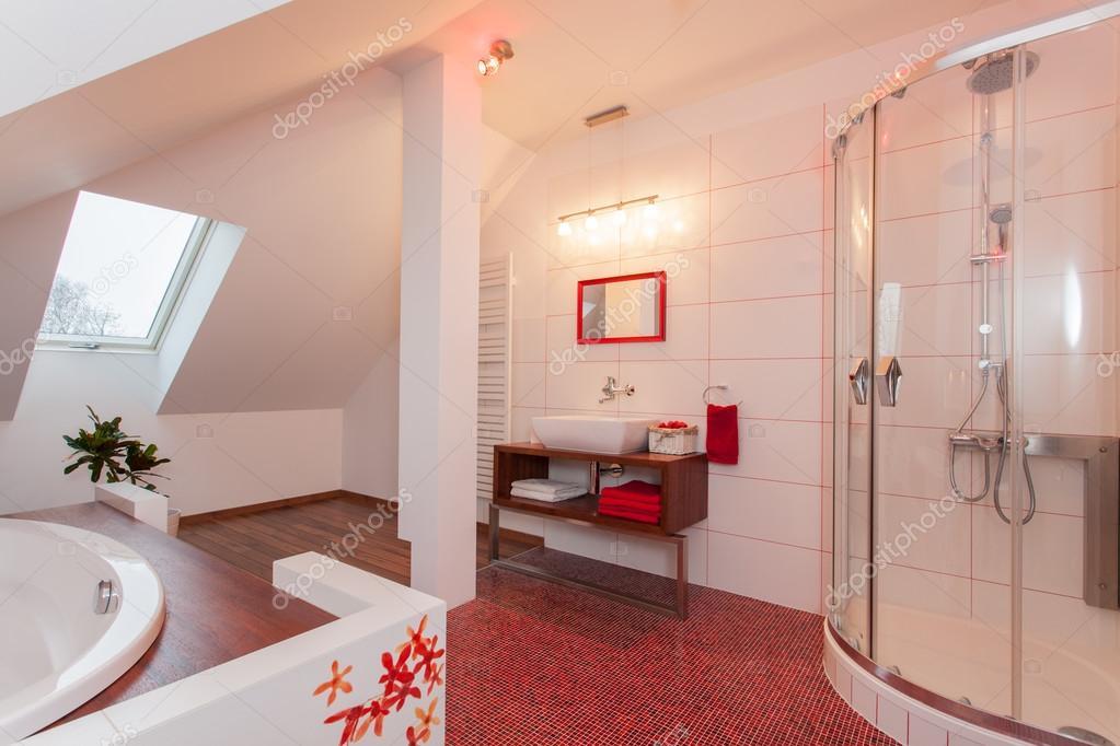 Casa rubino bagno in mansarda u2014 foto stock © photographee.eu #41333919