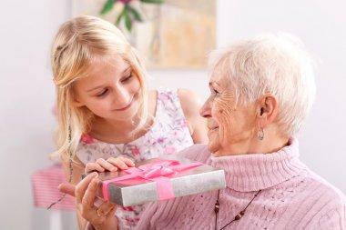 Portrait of grandma and granddaughter