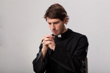 "Картина, постер, плакат, фотообои ""священник молится. "", артикул 42131987"
