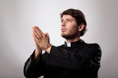 "Картина, постер, плакат, фотообои ""священник молится. "", артикул 42132785"