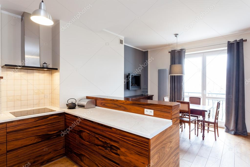 cucina collegato con sala da pranzo — Foto Stock © photographee.eu ...