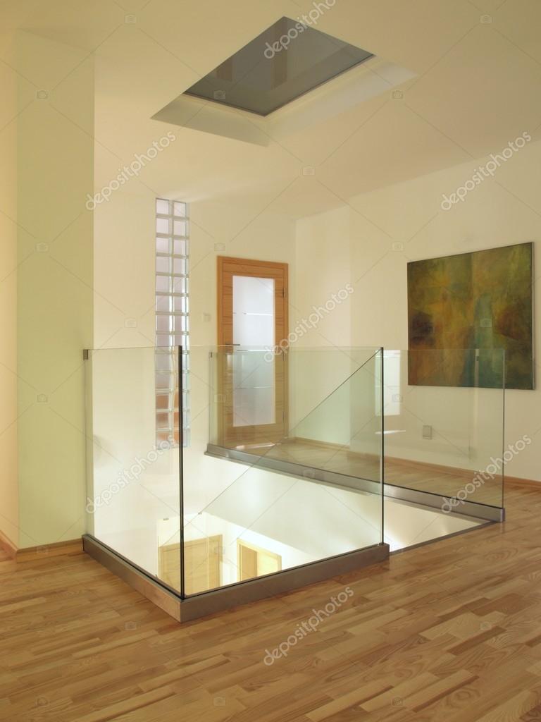 Moderne Flur Mit Treppenhaus, Glas U2014 Stockfoto