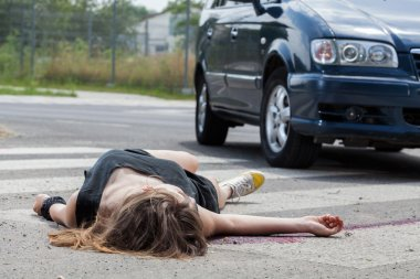 Car hit young woman