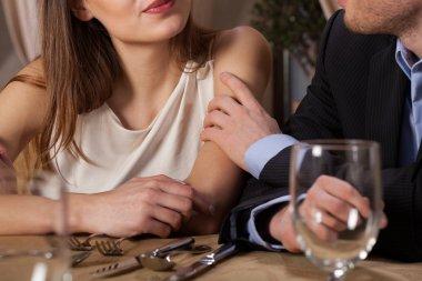 Marriage having dinner