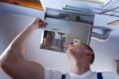Fixing kitchen wall hood