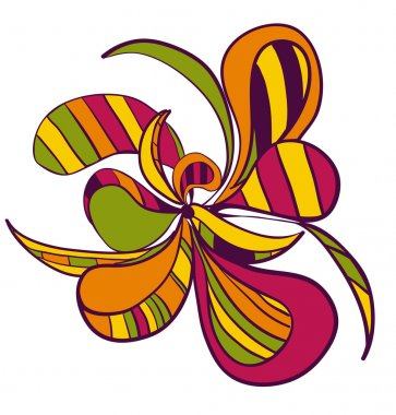 Abstract hand draw strange flower style figure