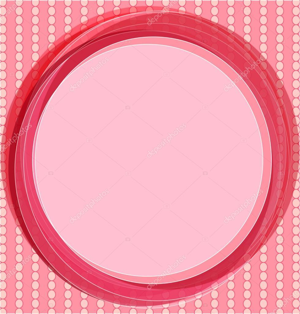 arte pop de fondo en color rosa. tarjeta de invitación con círculos ...