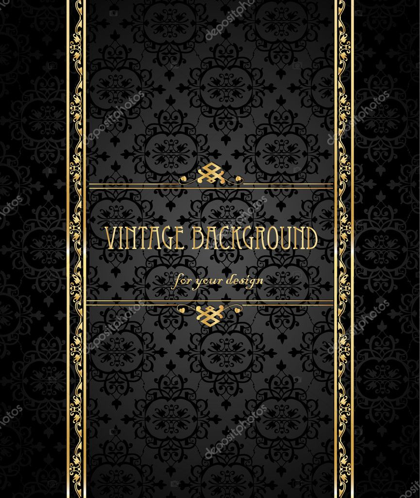 Fondo Vintage, antiguos, hermoso viejo papel, tarjeta, ornamentada ...