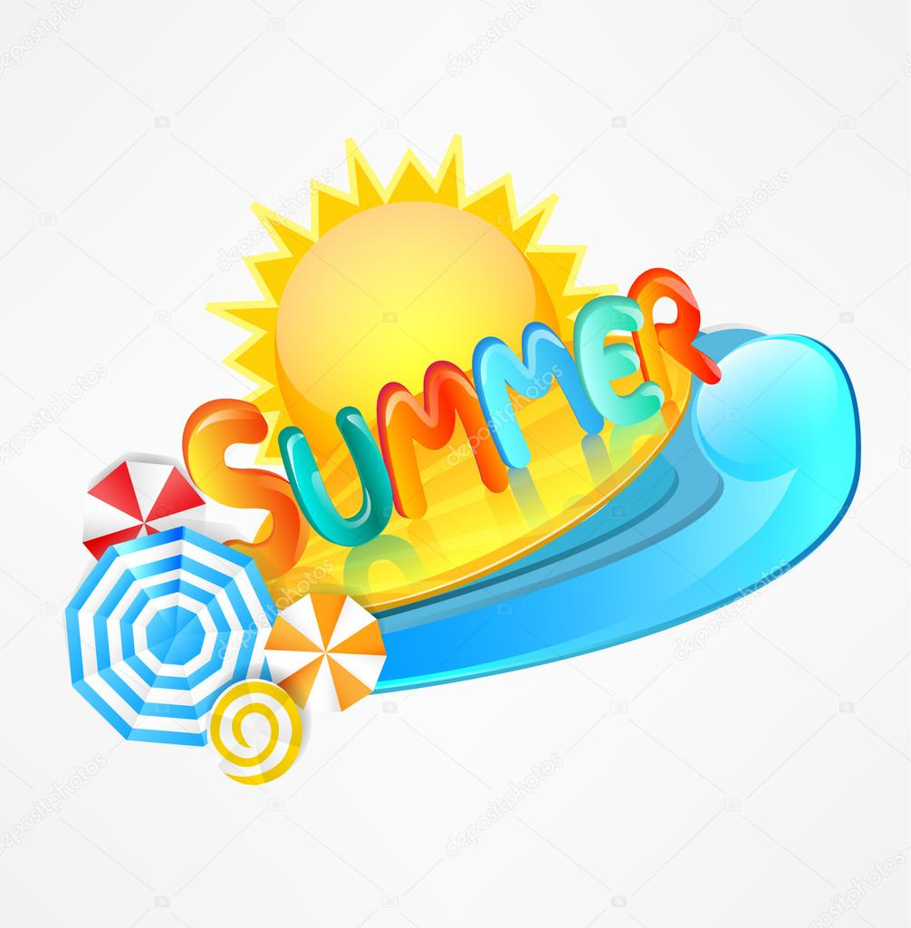 夏のおしゃれなロゴ — ストックベクター © tandav #25609257