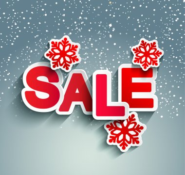 Background with winter sale