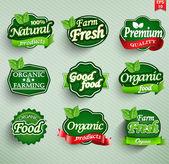 Photo Farm fresh food label, badge or seal
