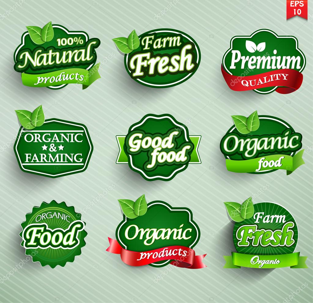 Farm fresh food label, badge or seal. vector stock vector