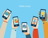 Fotografie Concept for mobile apps