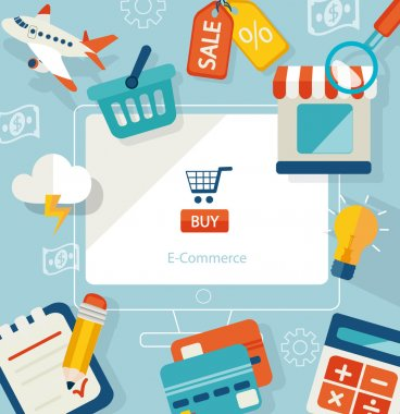 Icons for online shopping.