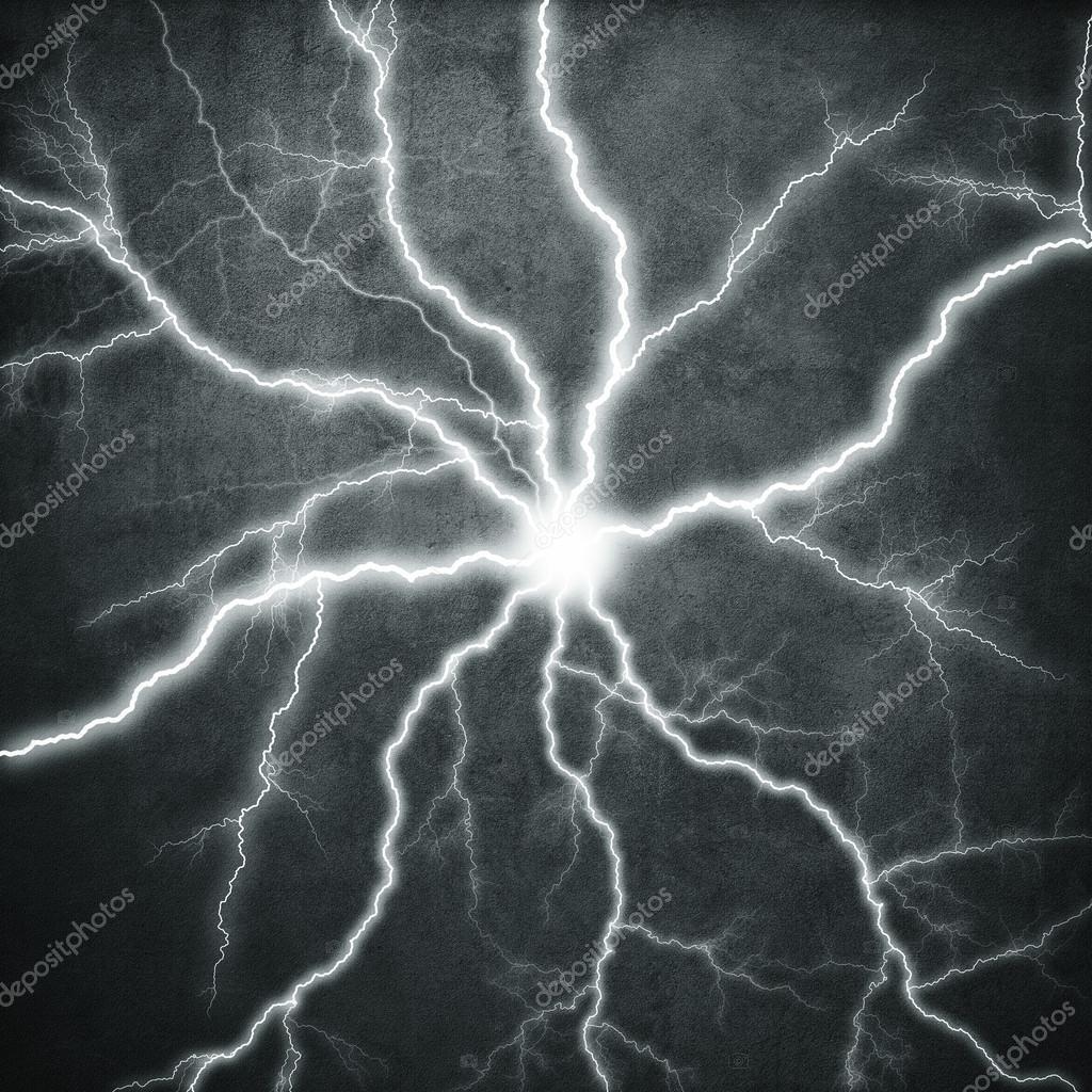 Flash on black background