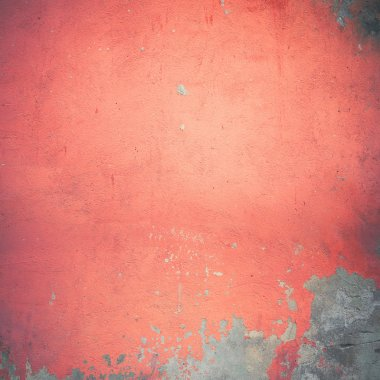 red damaged wall