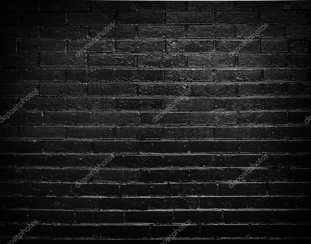 Фон кирпичная стена черная