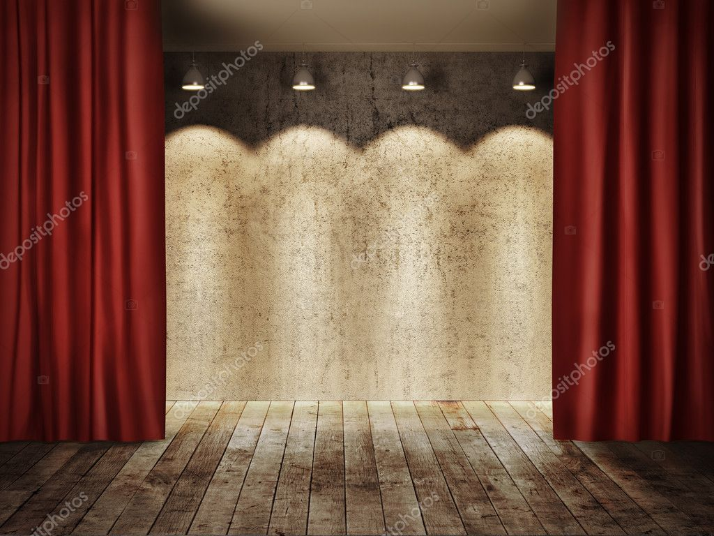 Stage curtain wallpaper curtain designs - Stage Background With Red Curtains Stock Photo 26151535
