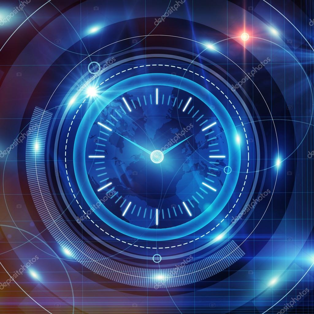 Time and clock background
