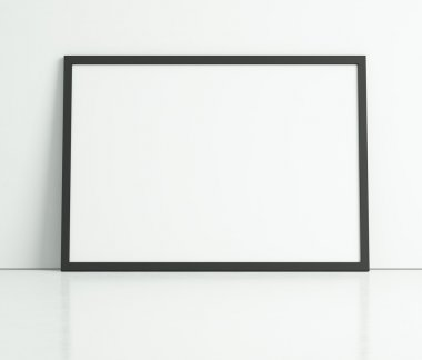 White poster on a white wall