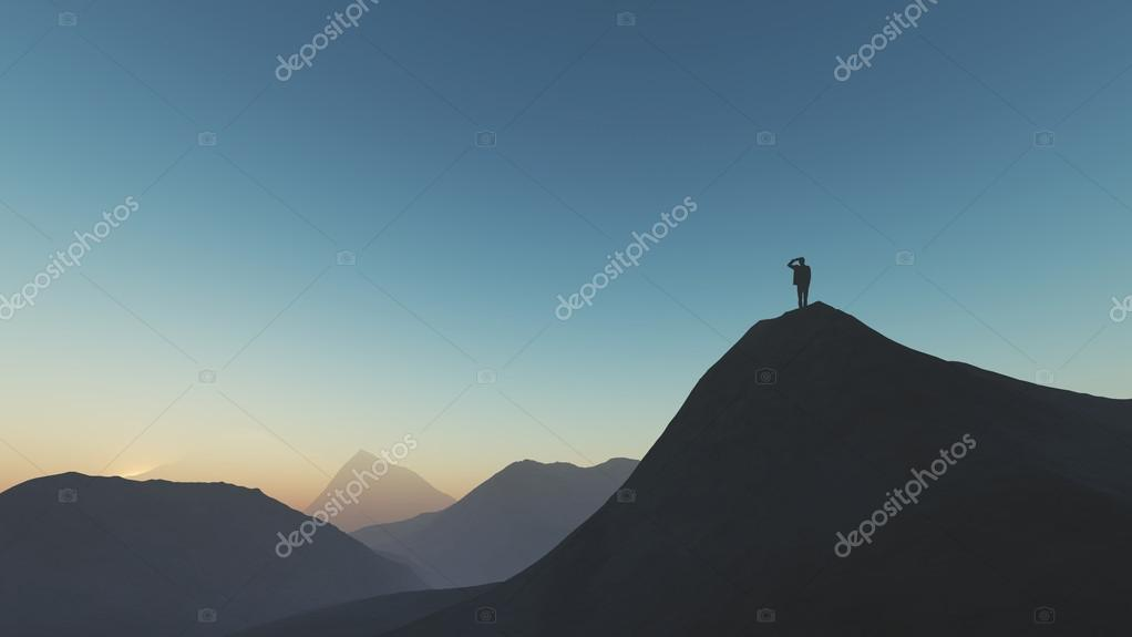 Man looking landscape