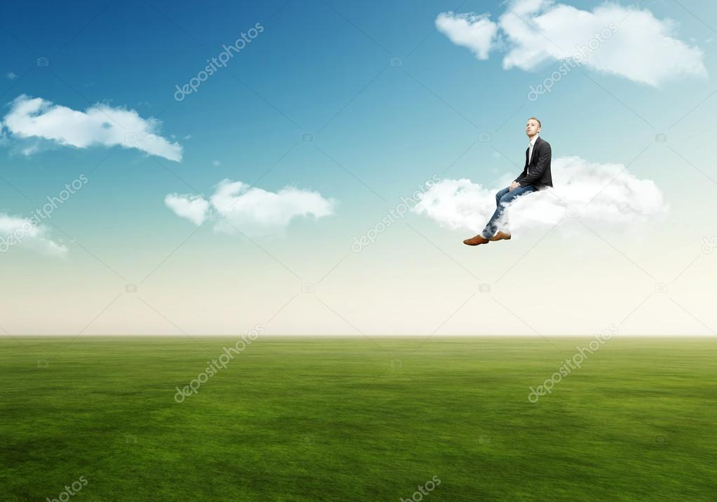 Man on a cloud