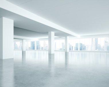 Empty bright room interior