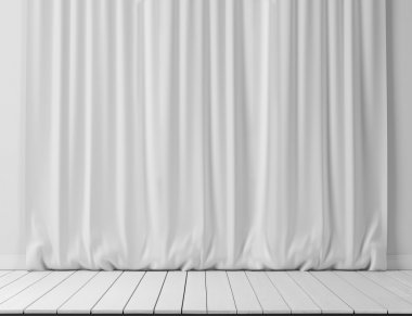 White curtains background